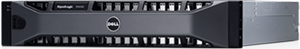 An image of a Dell EqualLogic storage server not installed on a rack.