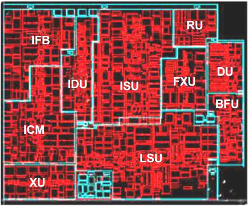 Schematic of IBM z114 processor