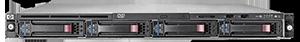 DL320 server on clear brackground, 6th gen